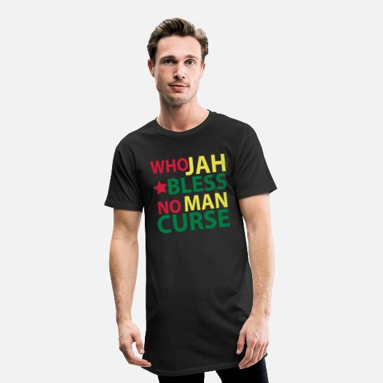 Grossier T-shirts - who jah bless - T-shirt long Homme noir