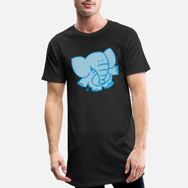 Little Elephant by Cheerful Madness!! - Men's Long T-Shirt