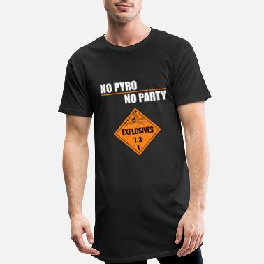 Ultras No Pyro No Party - Camiseta de corte largo hombre