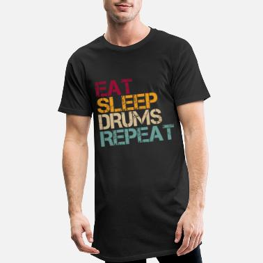 Sleep Drum Eat Sleep Repeat Retro Funny Saying - Men's Long T-Shirt