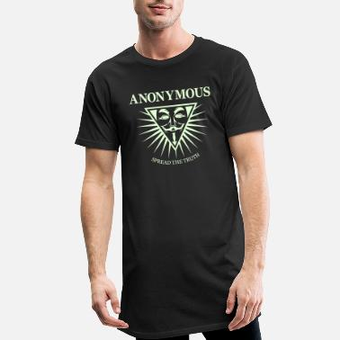 Hacking Revolution Democratie Anonymous NWO - T-shirt long Homme