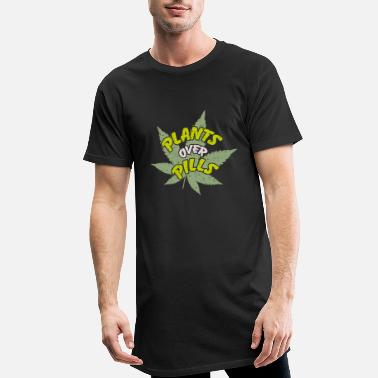 Cannabis plants over pills | Cannabis - Männer Longshirt
