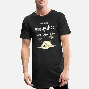 View Tent Camper Camping Caravan Holiday Mosquitoes - Men's Long T-Shirt
