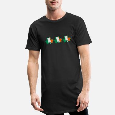 I Want To Marry Irish I Want To Have A Irish Girlfriend Irish Boyfriend Irish Husband Irish Wife Iri ♥ټ☘Kiss the Irish Shamrocks to Get Lucky☘ټ♥ - Men's Long T-Shirt