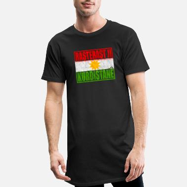 Outta Resterast ji Kurdistane - Straight outta Kurdistan - Men's Long T-Shirt