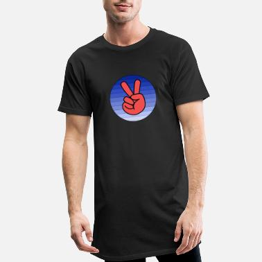 Peace Sign Peace Sign - Peace - Peace - Men's Long T-Shirt