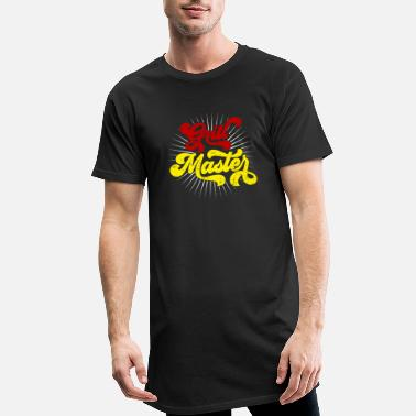 Salchicha Grillmeister Grill instructor Barbecue King - Camiseta de corte largo hombre