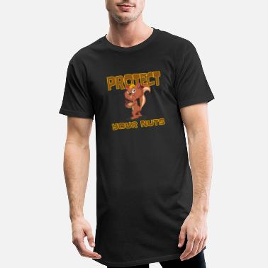 Jockstrap Protect your nuts squirrel nuts funny saying - Men's Long T-Shirt