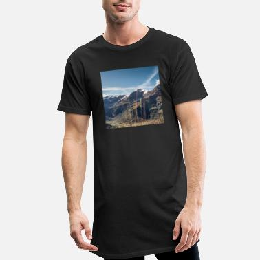 Blue Salzbuergland bockhart chart Österreic mountains - Men's Long T-Shirt