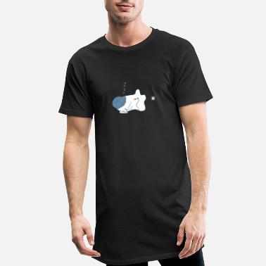 Clair Little Ghost électrique - T-shirt long Homme