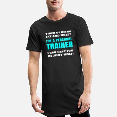 Personale Funny Sarcastic Certified Personal Trainer Joke - Lang T-Shirt mænd