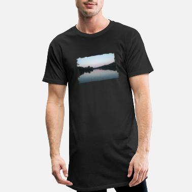 Evening Lake in the evening - Men's Long T-Shirt