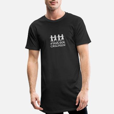 Children Save our Children paper chain - Men's Long T-Shirt