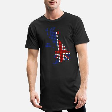Map UK - Men's Long T-Shirt