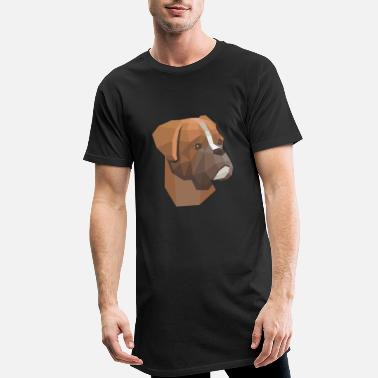 Dog low poly - Men's Long T-Shirt