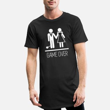 Game Parejas - Game over - Camiseta de corte largo hombre