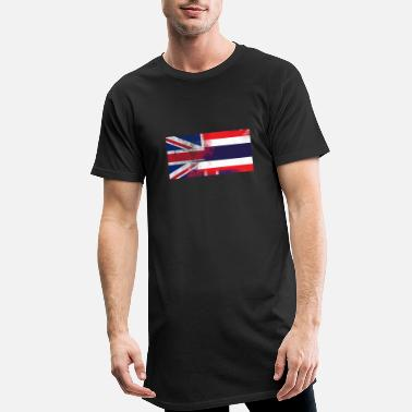 Thailand British Thai Half Thailand Half UK Flag - Men's Long T-Shirt