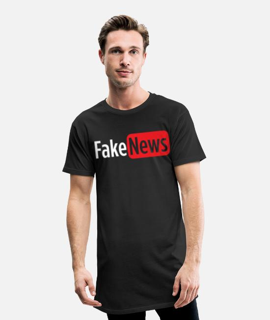 Broadcast T-Shirts - Fake News - Men's Long T-Shirt black