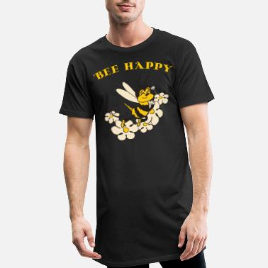 Bee Happy Cute Bee For Kids For Women For Men Be H - Men's Long T-Shirt