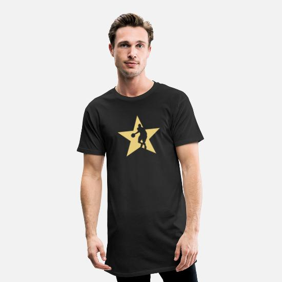 Star T-Shirts - Basketball STAR - Men's Long T-Shirt black