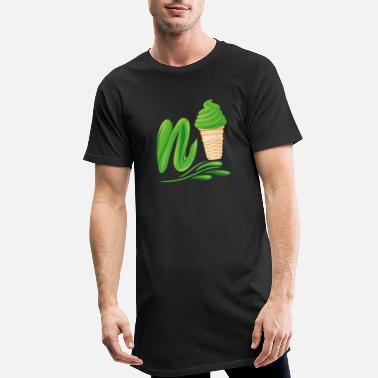 Plutonium N'ice Ice Cream Emoji with a N. Green Soft Ice - Men's Long T-Shirt