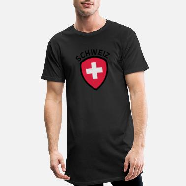 Schweiz Switzerland Badge - Men's Long T-Shirt