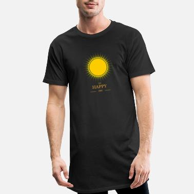 Rire soleil de yoga t-shirt Oh Happy Day - T-shirt long Homme