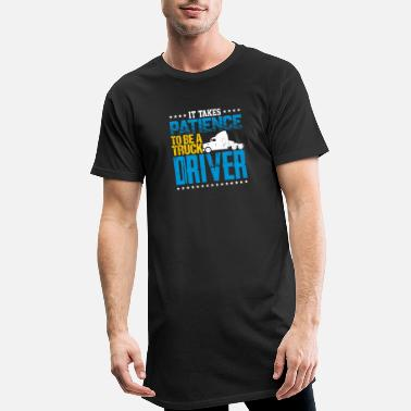Semitruck It Takes Patience To Be A Truck Driver - Men's Long T-Shirt