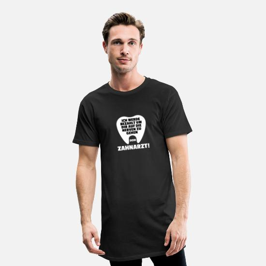 Percer T-shirts - Dentiste dent dents dentisterie forage forage - T-shirt long Homme noir