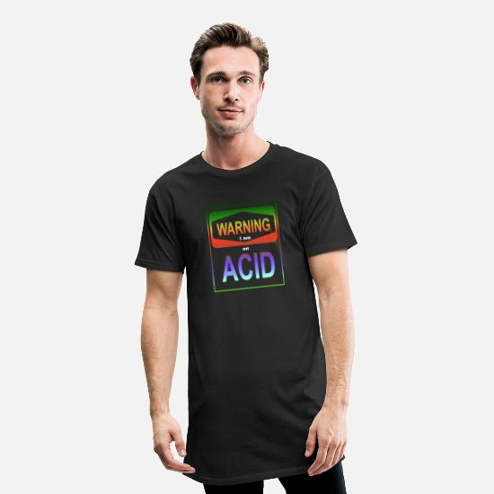 Lsd T-Shirts - Warning I am on Acid LSD Bicycle Day Festival - Männer Longshirt Schwarz