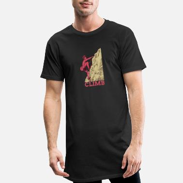 Climber climbing bouldering mountains nature gift - Men's Long T-Shirt
