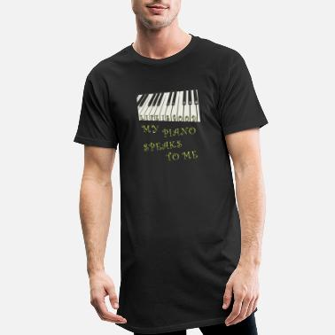 KEYBOARD MY PIANO SPEAKS TO ME - Men's Long T-Shirt