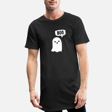 boo the ghost cute kawaii character - Men's Long T-Shirt