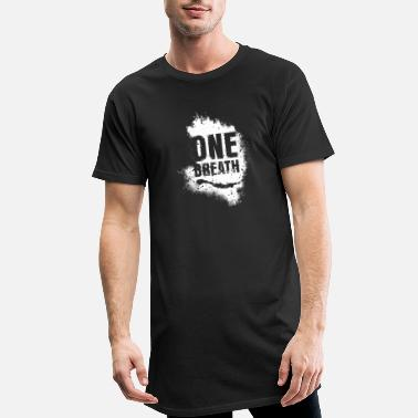 Breath One Breath Freedive white - Men's Long T-Shirt