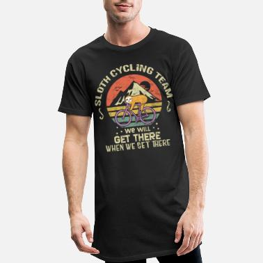 Sloth Cycling Sloth Biking - Men's Long T-Shirt