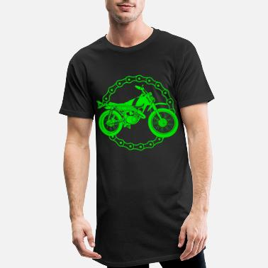 Gangster Moto - motocross bike / Racing - T-shirt long Homme