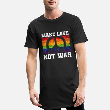 No Love No War LGBT Rainbow - Mannen Longshirt