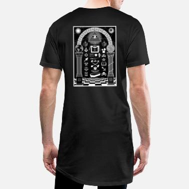 Tracing Board Black - Men's Long T-Shirt
