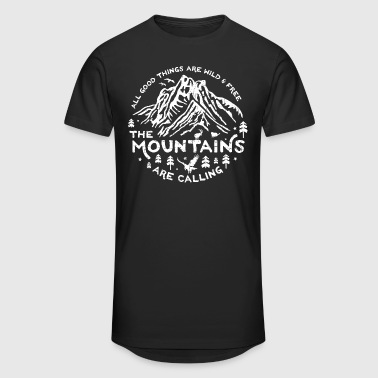 Mountains Calling white - Männer Urban Longshirt