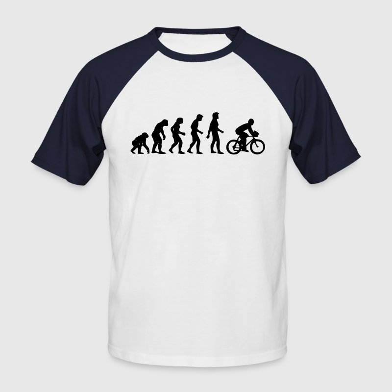 evolution homme cyclisme - Men's Baseball T-Shirt