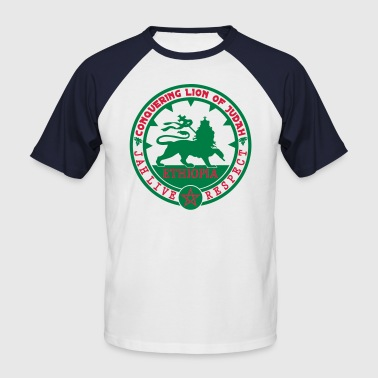 ethiopia conquering lion of judah - T-shirt baseball manches courtes Homme