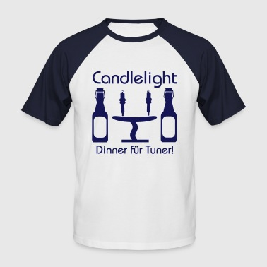Candlelight Dinner - Männer Baseball-T-Shirt