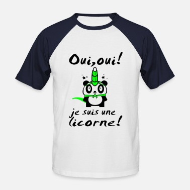 Licorne Homme UNE LICORNE (panda) - T-shirt baseball manches courtes Homme