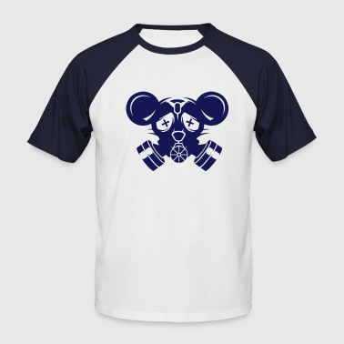 A gas mask with big mouse ears - Men's Baseball T-Shirt