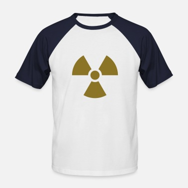 Verstrahlung Radiation Sign (Vector) - Männer Baseball-T-Shirt