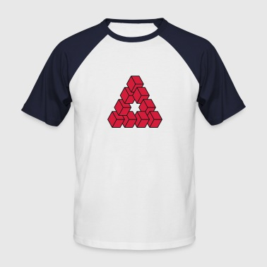 Optical illusion - Impossible figure - Men's Baseball T-Shirt