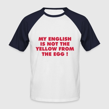 english - Männer Baseball-T-Shirt