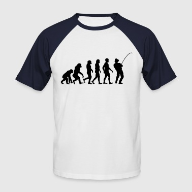 evolution man fishing (1) - Maglia da baseball a manica corta da uomo