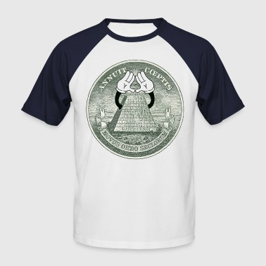 Illuminati Dollar 1 - Männer Baseball-T-Shirt