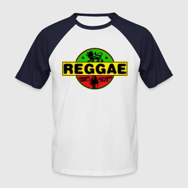 Rasta reggae original vibes rasta peace - Men's Baseball T-Shirt